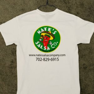 T-shirt design for Nates Salsa Company • Las Vegas NV